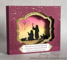 Diorama card using Stampin' Up! 'Every Blessing' - Just Judy Designs for Art With Heart Tem blog hop Australia