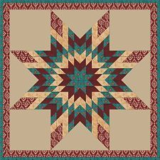 WALKING TRIBUTE Lone Star Quilt Top
