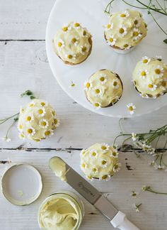 Chamomile Cupcakes via Sweet Laurel