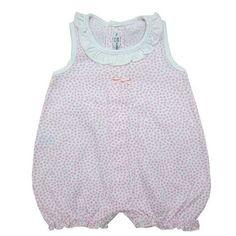 Pijama de verano sin mangas de algodón corazones