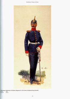 German; 134th(10th Saxon) Infantry Regiment, Oberleutnant(Instructor Cadet Corps Dresden). Raised 1881. Home Depot Plauen. XIX Corps