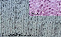 The Weekly Stitch - 2x2 garter stitch rib