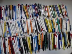 Oude balpennen verzameling (220 stuks)