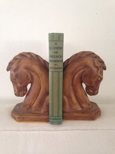 Horse Bookends by MayaVintage on Etsy