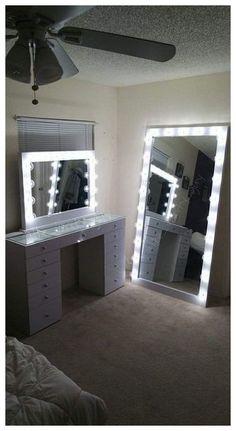 trendy makeup beauty room ideas tips - Makeup room ideas - Cute Room Decor, Teen Room Decor, Room Ideas Bedroom, Bedroom Decor, Wall Decor, Makeup Beauty Room, Makeup Geek, Glam Room, Stylish Bedroom