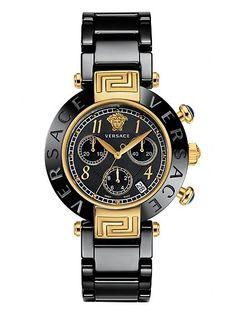 Es un reloj Negro y oro Reve Ceramic y me gusta mucho