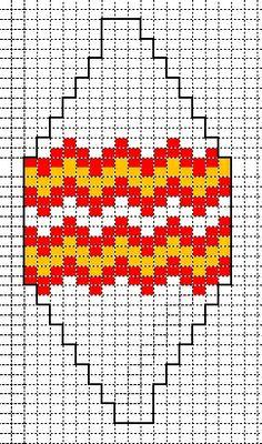 kerstbal fantasie zigzag #knitted_balls