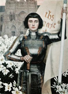 "Albert Lynch (1851-1912), 'Jeanne d'Arc', ""Figaro Illustré"", #157, April 1, 1903 I think I have a crush on this particular depiction of Joan of Arc."