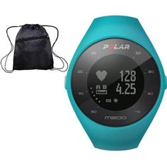 Polar M200 GPS Running Watch with Wrist-Based Heart Rate - Blue Medium-Large and Cinch Bag *** More info could be found at the image url. (This is an affiliate link and I receive a commission for the sales)