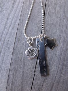 Handstamped Western Country Girl Necklace. $21.00, via Etsy.