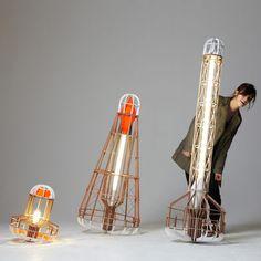 PostlerFerguson, collection of lamps shaped like nautical buoys.