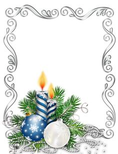 Large Transparent Silver Christmas Photo Frame with Blue Candles and Christmas Balls Christmas Border, Christmas Frames, Silver Christmas, Christmas Candles, Christmas Background, Christmas Paper, Christmas Music, Christmas Pictures, Vintage Christmas