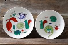 Rare Arabia Finland Childs Plate and Bowl  Mid by HouseofSeance, 140.00$