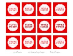 Free Printable: Valentine Cupcake Toppers by A Little Lovely | U Create#more#more#more