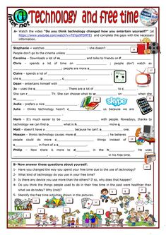 Technology and free time worksheet - Free ESL printable worksheets made by teachers