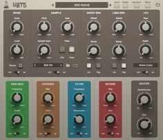 Hats is a drum synthesizer plugin dedicated to hi hats and cymbals sounds. It features two independent sources: synthesized noise and custom sample.
