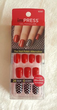 KISS imPRESS Press-On Manicure SWEPT AWAY 30 Nails+ 6 Accent  | Health & Beauty, Nail Care, Manicure & Pedicure, Press-On Nails | eBay!