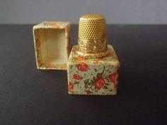 "Antique 14k Gold Thimble Size 8 ""Greta"" | eBay"