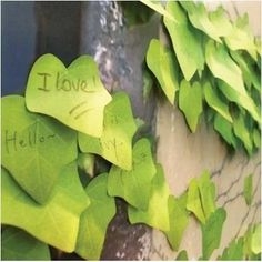 lively artificial leaves sticky notes n times sticker memo pad simulation leaves post-it note write scratch pad 10pcs/lot ARC681