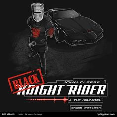 Dark Knight Rider | $10 Monty Python's Knight Rider t-shirt from RIPT today only!