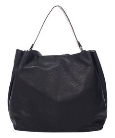 Look what I found on #zulily! Black Leather Hobo & Removable Pouch #zulilyfinds