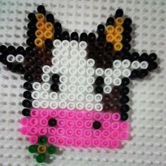Cow perler beads by Pysslabeads