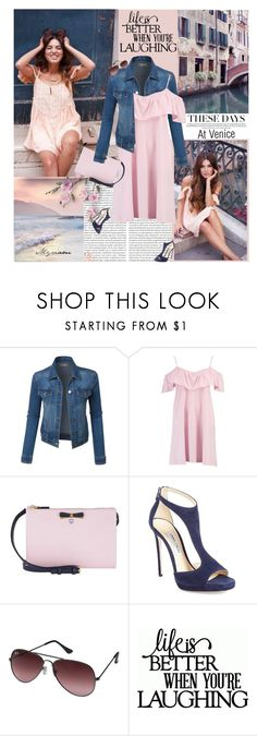 """""""PINK/BLUE"""" by lovemeforthelife-myriam ❤ liked on Polyvore featuring Seed Design, LE3NO, Boohoo, MCM, Jimmy Choo, Ray-Ban and Michael Kors"""