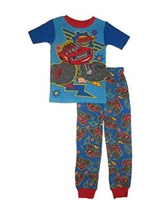 Nickelodeon Blaze and the Monster Machines Blaze Boys Snug Fit Pajamas 5th Birthday Party Ideas, Party Themes For Boys, Superhero Birthday Party, Birthday Stuff, 3rd Birthday, Big Boys, Little Boys, Monster Truck Party, Christmas 2016