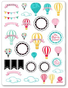In The Clouds Assortment Planner Stickers for Erin Condren Planner, Filofax…