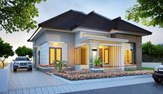 41 Simple Minimalist 1 Floor Model Homes - House Designs Minimalist House Design, Minimalist Home Interior, Modern House Design, Style At Home, Exterior Tradicional, Latest House Designs, Contemporary House Plans, Art Deco Home, Story House
