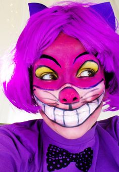 Cheshire cat makeup... Wow!