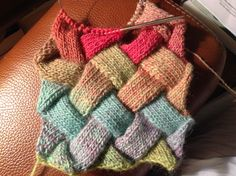 Unfinished Entrelac project