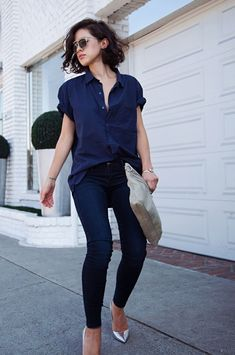 jeans and button down outfit 5 Ways to Wear a Button Down Shirt