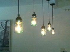 Tinted ball jar lights