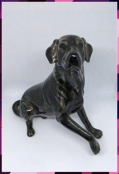 Handsome Heredittes Black Labrador Dog Figuirine - Christmas Gift - Dog Lover Dog Lover Gifts, Dog Gifts, Dog Lovers, Black Labrador Dog, Monster Pictures, Harp Seal, Dog Christmas Gifts, Sitting Poses, Best Vibrators