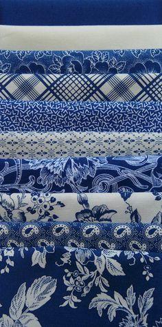 Blue & White Fabrics