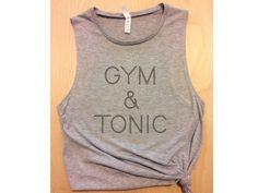 gym & tonic gray workout tank / women's tank / women's workout tank / yoga tank