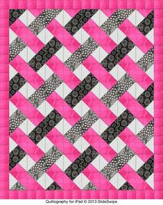 Easy woven quilt pattern -- triangles