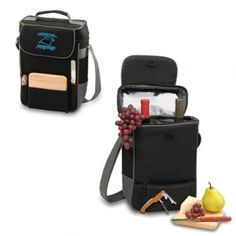 Picnic Time: NFL Carolina Panthers Duet Wine & Cheese Tote. Find your team @ ReadyGolf.com