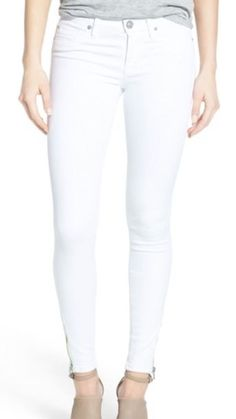 Levi's 535 White Super Skinny Jeans Women's Ankle Stretch Size 26