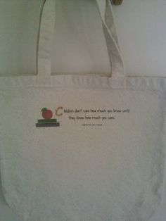 tuto pour réaliser ces tote bags personnalisés pour l'école