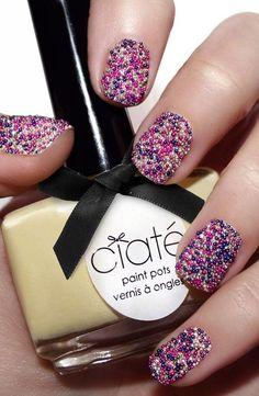 Cute caviar nails