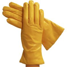 Yellow Simple Leather Gloves, Lined in Cashmere Solo Classe (5.060 RUB) ❤ liked on Polyvore featuring accessories, gloves, cashmere gloves, cashmere-lined leather gloves, leather gloves, yellow gloves and lined gloves