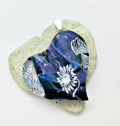 Excited to share the latest addition to my #etsy shop: Dichroic Heart White Flower Fused Glass Pendant http://etsy.me/2zmVEbL #jewelry #madeinamerica #shop #pendant #flower #bluepinkdichroic #purplesilverdichro #awesomedichroic #birthdaygift #chris1