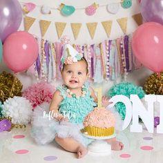Happy Birthday in Ruffles and Tutus! #birthday #kidsfashion #babygirl #fashion #toddler #toddlerfashion #birthdaygirl #igkiddies #igkids #babygirls #cakesmash #cake #tutu #lace #banner