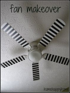 home happy home: Ceiling fan makeover