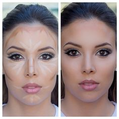 Not that crazy, paint your whole face kind of contouring. Love this.
