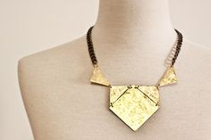 The RomaChunky Textured Brass Necklace by CSfootprints on Etsy, $50.00