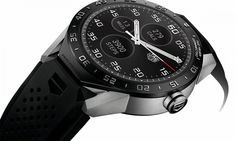 The world's first luxury Android Wear smartwatch is now official. Tag Heuer has finally announced the Connected, its first Android Wear running smartwatch. The smartwatch is based on the company's Carrera timepiece and has been developed Android Wear Smartwatch, Android Watch, Men's Accessories, Cool Watches, Watches For Men, Stylish Watches, Wrist Watches, Gps Watches, Latest Watches