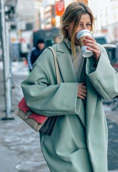 February 12, 2014  Tags Ada Kokosar, Turtlenecks, Rings, Neutrals, FW14 Women's, Red, Bags, Green, Women, Coats, New York